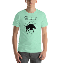 Load image into Gallery viewer, Vibe Luck Taurus Bull Zodiac Sign Birthday Short-Sleeve Unisex T-Shirt