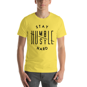 Vibe Luck Stay Humble Hustle Hard Short-Sleeve Unisex T-Shirt