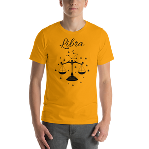 Vibe Luck Libra Balance Scale Zodiac Sign Birthday Short-Sleeve Unisex T-Shirt