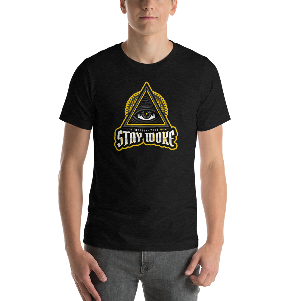 Vibe Luck Stay Woke Intellectual Eye Pyramid Short-Sleeve Unisex T-Shirt