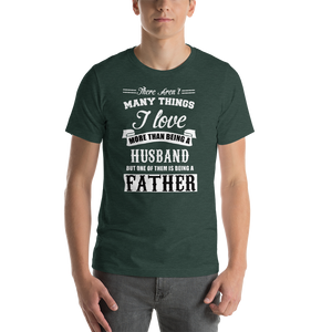 Vibe Luck I Love Being A Husband And Father Short-Sleeve Men's T-Shirt