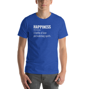 Vibe Luck Happiness A Bottle Of Beer And Watching Sports Short-Sleeve Unisex T-Shirt