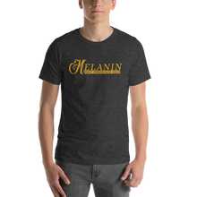 Load image into Gallery viewer, Vibe Luck Signature Melanin That Chocolate Gold Short-Sleeve Unisex T-Shirt