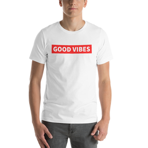 Vibe Luck Classic Good Vibes Short-Sleeve Unisex T-Shirt