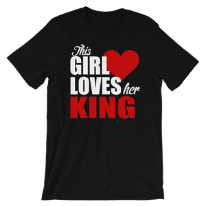 This Girl Loves Her King Couples Short-Sleeve Women's T-Shirt
