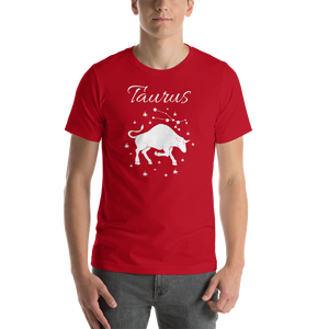 Vibe Luck Taurus Bull Zodiac Sign Birthday Short-Sleeve Unisex T-Shirt