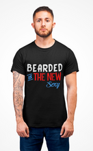Load image into Gallery viewer, Vibe Luck Bearded Is The New Sexy Short-Sleeve Men's T-Shirt