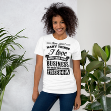 Load image into Gallery viewer, Vibe Luck I Love Business And Freedom Short-Sleeve Unisex T-Shirt
