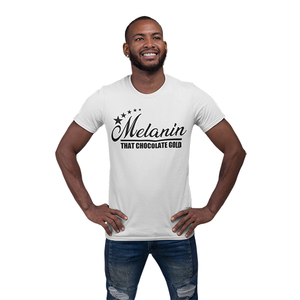 Vibe Luck Melanin That Chocolate Gold 5 Star Short-Sleeve Unisex T-Shirt