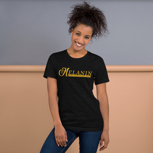Vibe Luck Signature Melanin That Chocolate Gold Short-Sleeve Unisex T-Shirt