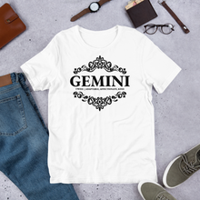 Load image into Gallery viewer, Vibe Luck Royal Gemini Twins Zodiac Sign Birthday Short-Sleeve Unisex T-Shirt
