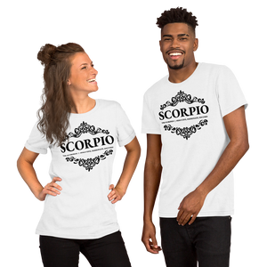 Vibe Luck Royal Scorpio Zodiac Sign Birthday Short-Sleeve Unisex T-Shirt