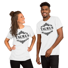 Load image into Gallery viewer, Vibe Luck Royal Taurus Zodiac Sign Birthday Short-Sleeve Unisex T-Shirt