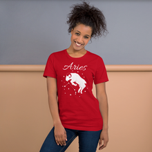 Load image into Gallery viewer, Vibe Luck Aries Ram Zodiac Sign Birthday Short-Sleeve Unisex T-Shirt