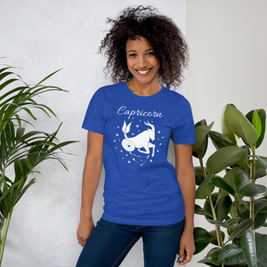 Vibe Luck Capricorn Goat Zodiac Sign Birthday Short-Sleeve Unisex T-Shirt