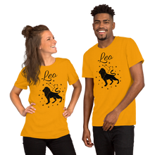 Load image into Gallery viewer, Vibe Luck Leo Lion Zodiac Sign Birthday Short-Sleeve Unisex T-Shirt
