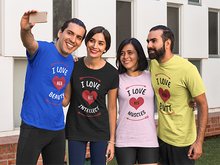 Load image into Gallery viewer, Vibe Luck I Love His Intellect Couples Matching Short-Sleeve Women's T-Shirt