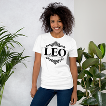 Load image into Gallery viewer, Vibe Luck Royal Leo Zodiac Sign Birthday Short-Sleeve Unisex T-Shirt