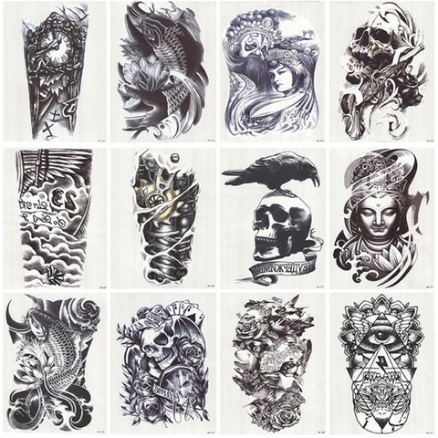 tatouage ephemere sleeve