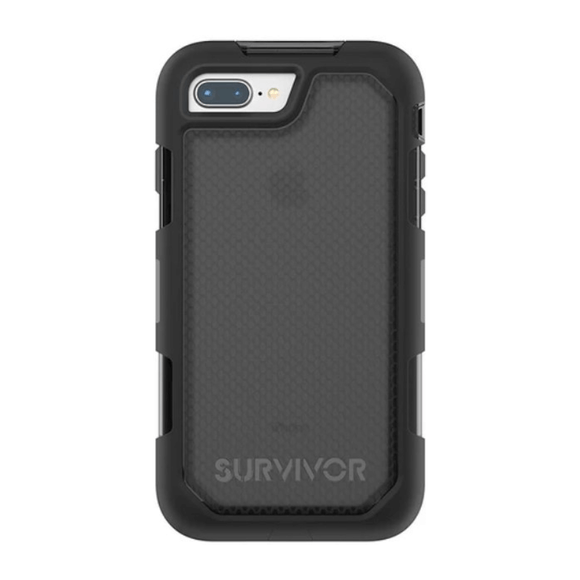 Griffin Survivor Extreme Black All-Weather 360 Protection Case For iPhone 7+/8+