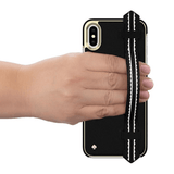 Kate Spade New York Wrap Strap Black Case for iPhone X/Xs