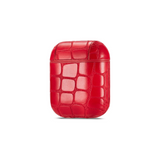 Airpods Protection Case Crocodile Skin Red