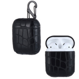 Airpods Protection Case Crocodile Skin Black