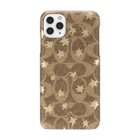 Coach Signature Gold Foil Stars Wrap Case for iPhone 11 Pro