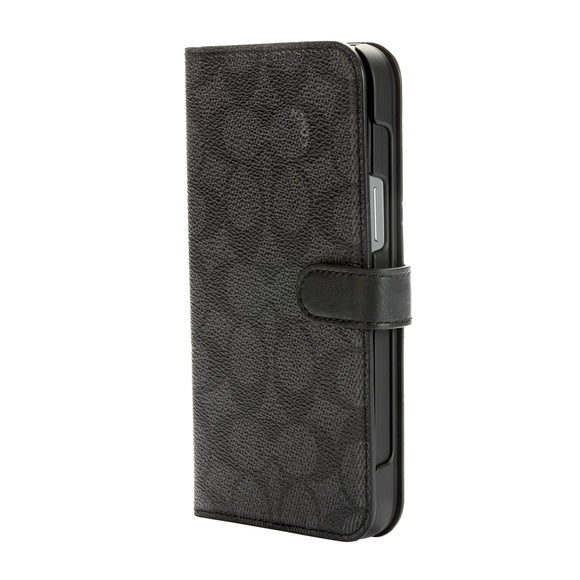 Coach Signature C Folio Case Black for iPhone 12 Mini
