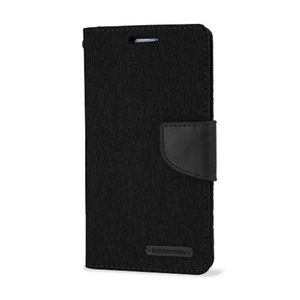 Goospery Mercury Black Canvas Diary for Samsung Galaxy A71