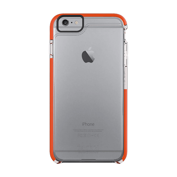 Tech21 Classic Frame Clear Orange For iPhone 6+/6s+