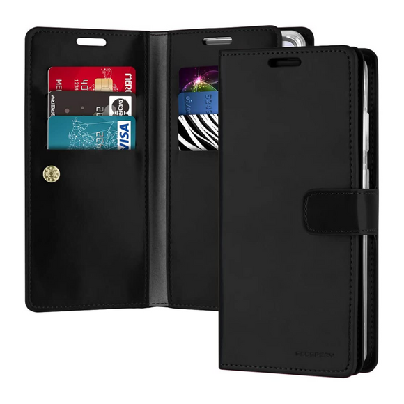 Goospery Mansoor Black Wallet Diary Case for Samsung Galaxy S20