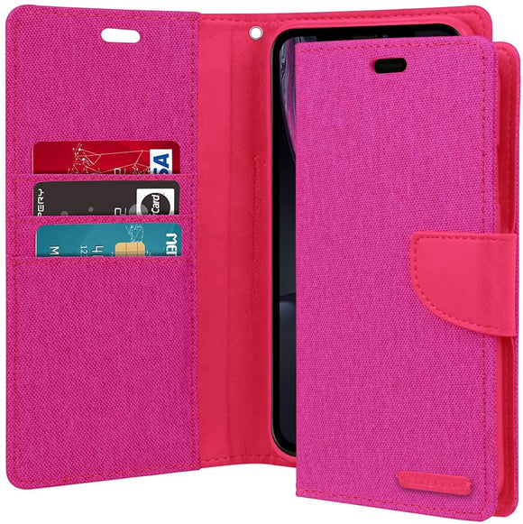 Goospery Canvas Diary Pink for iPhone 12 Pro Max