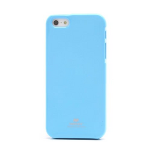 Goospery Mercury Baby Blue Jelly Case for iPhone 5/5s/SE (2016)
