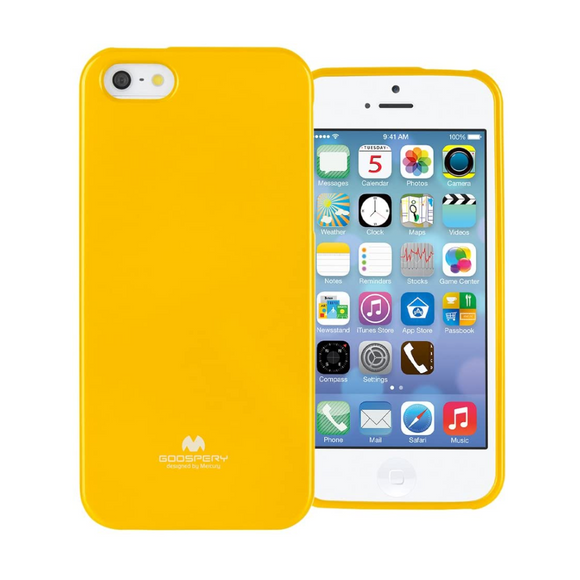 Goospery Mercury Yellow Jelly Case For iPhone 5/5S/SE (2016)