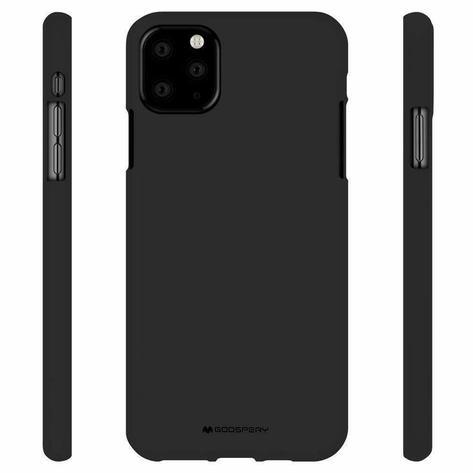 Goospery  Soft Feeling Jelly Matte Black for Iphone 12 Mini