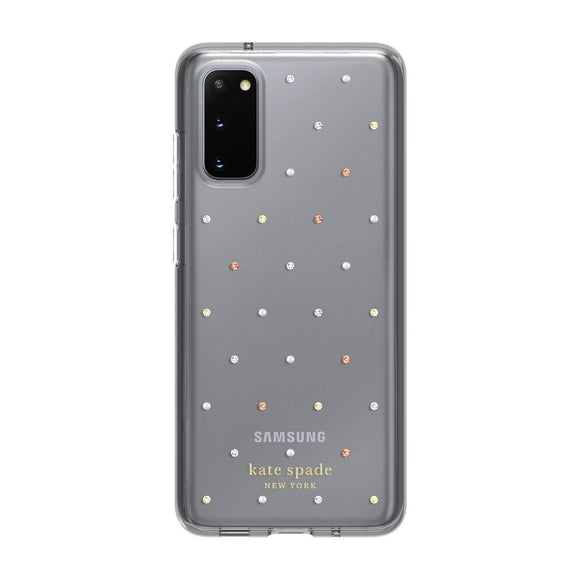 Kate Spade New York Pin Dot Gems Clear Case for Samsung Galaxy S20