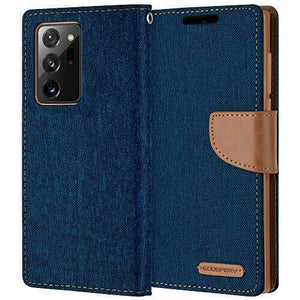Goospery Canvas Diary Blue for Samsung Galaxy Note 20 Ultra
