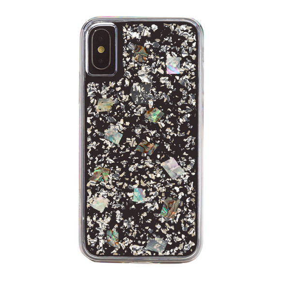Boomtique Mother of Pearl Silver for iPhone Xs Max