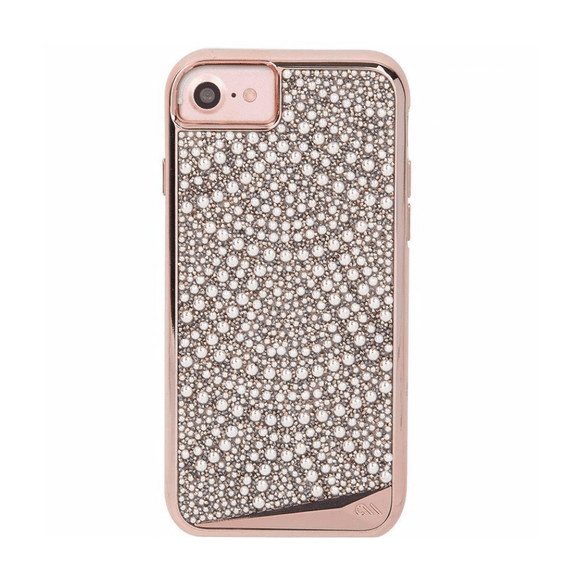 Case-Mate Brilliance Lace Rose Gold Pearl Crystal Case for iPhone 6/6s/7/8/SE (2020)