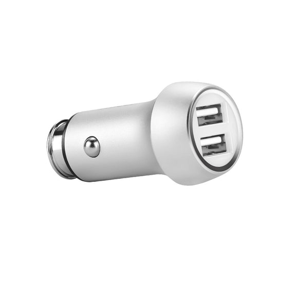 Dr Boom Dual USB Car Charger 3.1A Silver