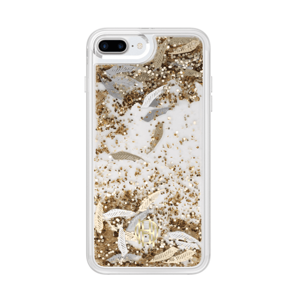 House of Harlow 1960 Gold Feathers Liquid Case for iPhone 7/8/SE (2020)