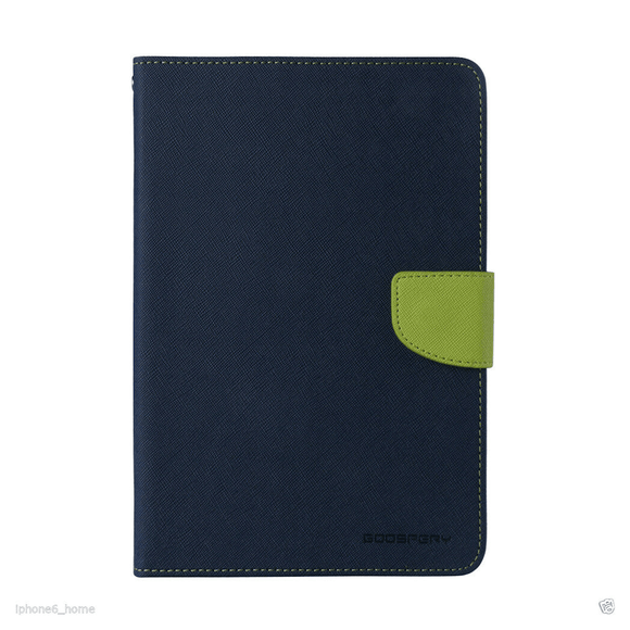 Goospery Mercury Navy Fancy Diary Case For iPad Pro 11