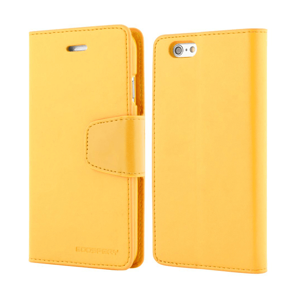Goospery Mercury Yellow Sonata Diary Case For iPhone 6+/7+/8+