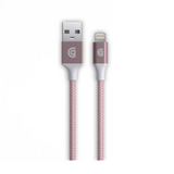 Griffin Premium Braided Lightning Cable Rose Gold, 5ft (1.5m)