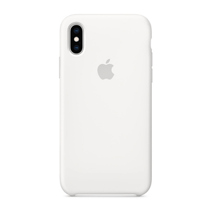 Original iPhone X White Silicone Case