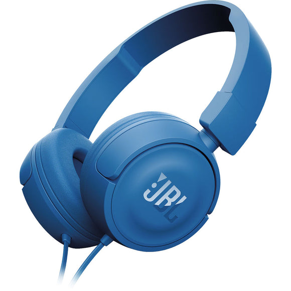 JBL T450 Blue On-Ear Wireless Headphones