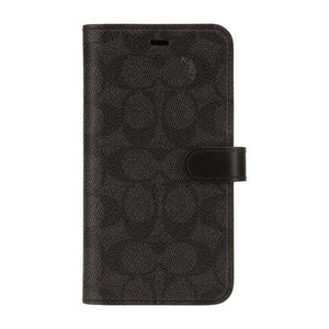 Coach Signature Black Folio Wallet for iPhone 11