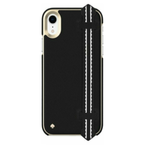 Kate Spade New York Wrap Strap Black Case for iPhone XR
