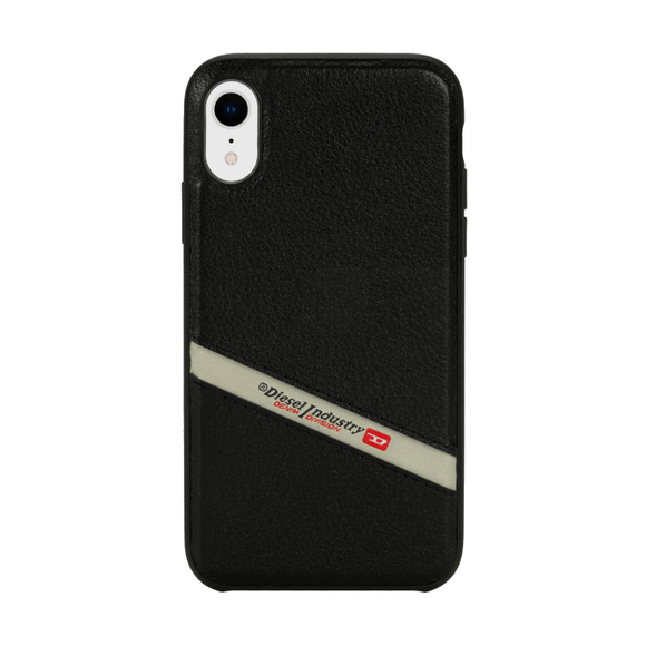 Diesel Black Leather Co-Mold Case for iPhone XR